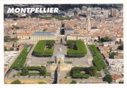 34 -- Hérault -- Montpellier -- Jardins Du Peyrou - Arc De Triophe - Eglise Ste-Anne -- Vue Aérienne - Montpellier