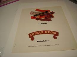 ANCIENNE PUBLICITE  WHISKY CHIVAS  1983 - Alcohols