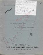 MILLY SUR THERAIN 1965 ACTE OBLIGATION BOULANGER A COUDERT 7 PAGES : - Manuscrits