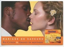 Uncle Ben's Mariage De Saveurs - Homme Noir Femme Blanche (cp Vierge) Riz Citron Graines Moutarde Metissage - Publicité