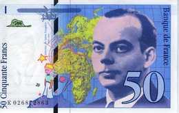 FRANCE - Banque De France, XXème Siècle - 50 F Saint Exupéry 1994 - Série K.026872863 - F.73.1d  AUNC+ - 1992-2000 Last Series