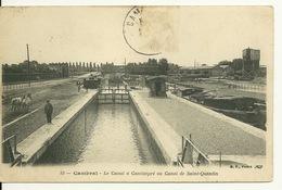 59 - CAMBRAI / LE CANAL A CANTIMPRE OU CANAL DE SAINT QUENTIN - Cambrai