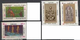 AFGHANISTAN:TOURISM DAY,WOMEN,CAMEL,ARTEFACTS,SCULPTURE,STATUE,1983,MNH - Afghanistan