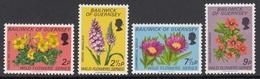 Guernsey 1972 - Wild Flowers - Mi 67-70 ** MNH - Guernsey