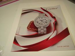 PUBLICITE AFFICHE MONTRE CARTIER 2016 - Bijoux & Horlogerie