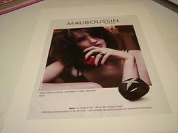 PUBLICITE AFFICHE JOAILLIER MAUBOUSSIN 2016 - Bijoux & Horlogerie
