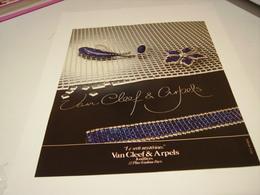 ANCIENNE PUBLICITE JOAILLIER  VAN CLEEF & ARPELS  1980 - Bijoux & Horlogerie