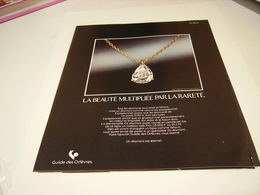 ANCIENNE PUBLICITE DIAMANTS GUIDE DES ORFEVRES  1979 - Bijoux & Horlogerie