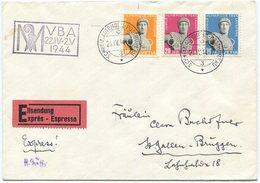 1914 - Olympiade Satzbrief Mit 10 Rp. ABART Ohrring - Variétés