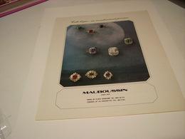ANCIENNE PUBLICITE JOAILLIER MAUBOUSSIN 1978 - Jewels & Clocks