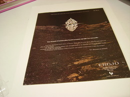 ANCIENNE PUBLICITE JOAILLIER FROJO 1979 - Bijoux & Horlogerie
