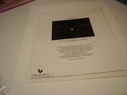 ANCIENNE PUBLICITE DIAMANTS UN CADEAU RARE 1978 - Other