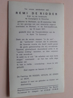 DP Remi DE RIDDER ( S.M. Landmacht 4de Cie ) Merksem 20 Sept 1958 - Mortsel 13 Maart 1977 ONGEVAL ( Zie Foto's ) - Avvisi Di Necrologio