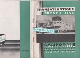Vieux  Papier : Bateau  Paquebot  Port LE HAVRE - Californie, Par Canal Du Panama , San Francisco,vancouver..... - Non Classés