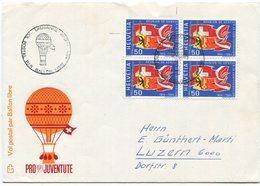 1915 - 150 Jahre Genf ABART Auf Pro Juventute Ballonbrief - Variétés