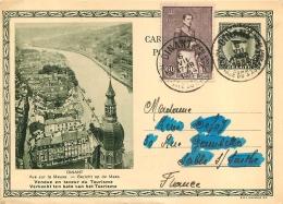 DINANT VUE SUR LA MEUSE OBLITEREE A DINANT EN 1934 - Stamped Stationery
