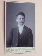 HOMME / MAN Te Identificeren ( CDV Photo Gérard JANSSENS Liège - Anno 19?? ( Zie Foto Voor Details ) ! - Oud (voor 1900)