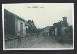 PAS DE I CHEQUE  REPRODUCTION  DAUMAZAN TRAIN  09 ARIEGE    Gare Station - France