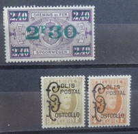 BELGIE   Spoorweg  1928   TR 167  /  168 - 169   Scharnier *    CW 20,00 - Bahnwesen