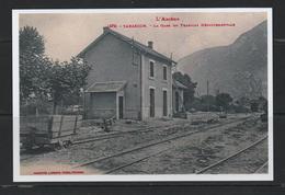 PAS DE  CHEQUE REPRODUCTION  TARASCON 09 ARIEGE   TRAMWAY Gare Station - France