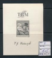 TCHECOSLOVAQUIE CZECHOSLOVAKIA  MS YVERT 5 MNH - Blocks & Sheetlets
