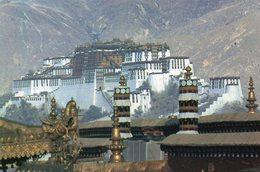Tibet: Potala- Palast (Dzong) - Tibet