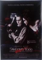 Folleto De Mano. Película Sweeney Todd. Johnny Depp. Helena Bonham Carter - Merchandising
