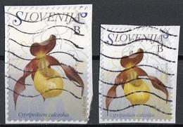 Slovenia 2007-09 Sc. 692-792 Fiori Flowers : Cypripedium Calceolus Orchidea Scarpetta Verde Used Slovenija - Slovenia