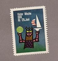 Vignette / Werbemarke:  Kieler Woche 1961 - Vignetten (Erinnophilie)