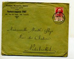 Belgique COB 77 Sur Lettre De Leuven Pour Nederbrakel 1912 - 1905 Barbas Largas