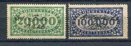 Deutsches Reich / Einkommensteuermarke 20000 Mark Und 100000 Mark Je Hs. Entwertung (11603) - Deutschland