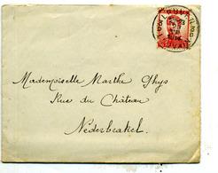 Belgique COB 118/123 Sur Lettre De Leuven Pour Nederbrakel  28 Juillet 1914 - 1912 Pellens