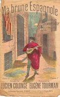 Partition Musique Ma Brune Espagnole Sérénade Illustrateur Signé - Cartes Postales