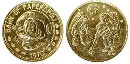 02607 GETTONE JETON TOKEN DISNEY BANK OF PAPEROPOLI MAN ON THE MOON 1970 - Unclassified