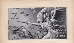 """Militaria ,vers La VICTOIRE ,carte Dite Sur """" Soie """" ,SOUVENIR OF THE WORLD WAR - Patriotic"""