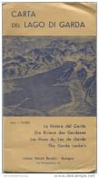 Carta Del Lago Di Garda - Istituto Nicolo Bendici Bologna - Innen Sauber Erhalten 50cm X 70cm Mehrfarbendruck - Maps Of The World