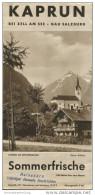 Kaprun 1939 - Faltblatt Mit 9 Abbildungen - Verzeichnis Der Preise Und Gaststätten - Oesterreich