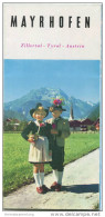 Mayrhofen 60er Jahre - Faltblatt Mit 17 Abbildungen - Hotel- Und Gaststätten-Verzeichnis - Tiroler Landes-Reisebüro Orts - Oesterreich