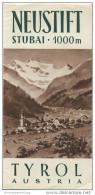 Neustift 50er Jahre - Faltblatt Mit 14 Abbildungen - Unterkunftsverzeichnis - Gestaltung F. Stummvoll - Oesterreich