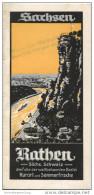 Rathen 1932 - 12 Seiten Mit 18 Abbildungen - Faltblatt Pauschalpreise Für Wochenend Und 7 Tage Aufenthalt 1932 - Saxe