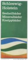 Schleswig-Holstein - Faltblatt 1968 Mit 23 Abbildungen - Schleswig-Holstein