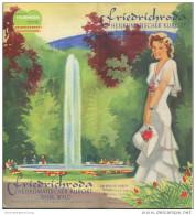 Friedrichroda 1939 - 12 Seiten Mit 12 Abbildungen - Beiliegend Wohnungsverzeichnis - Saxe