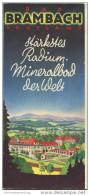 Bad Brambach 1935 - 20 Seiten Mit 41 Abbildungen - Beiliegend Kurmittelpreise - Saxe