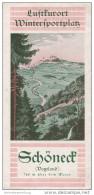 Schöneck Im Vogtland 1934 - Faltblatt Mit 11 Abbildungen - Saxe