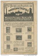 Phil. Berichte Und Angebote Der Markenmetropole Werner Franke Berlin W8 - Unter Den Linden 16 Seiten Okt. 1924 - Deutsch (bis 1940)