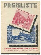 Briefmarkenhaus Otto Necesal Wien XXI Schwaigergasse - 16 Seiten Preisliste 1934 - Deutsch (bis 1940)