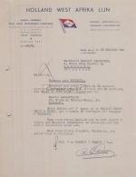 75 20 449 PARIS SEINE 1945 HOLLAND WEST AFRICA LIJN Agent PHS VAN OMMEREN Afrique Rue Tronchet A BALGUERIE Humbert - 1900 – 1949