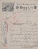 75 20 459 PARIS SEINE 1902 Vins HOUDART Avenue Republique Et LES LILAS A Mr DUJARDIN Rue Pavee - 1900 – 1949