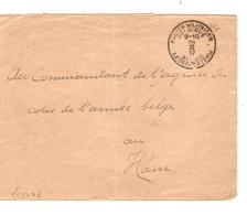 Guerre-Oorlog 14-18 L.S.M. C.PMB-BLP 15/2/17 V.Commandant Agence Colis Armée Belge Verso Exclu Ne Portant...JS321 - Army: Belgium