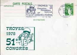 """Entier Postal De 1978 Sur CP Avec Timbre """"0,80 Sabine De Gandon"""" Et Repiquage Commémoratif (ACEP) - Entiers Postaux"""